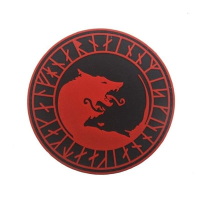 VIKING PATCH -ADMIT ONE VALHALLA - PVC RED 8cm - 100005735