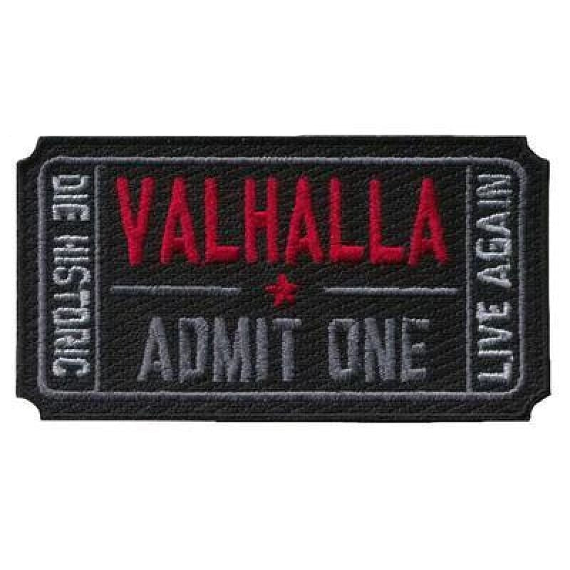 VIKING PATCH - LIVE AGAIN - Black - viking patch