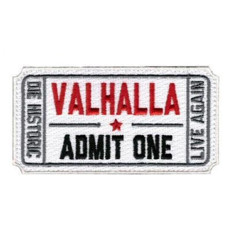 VIKING PATCH - LIVE AGAIN - White - viking patch