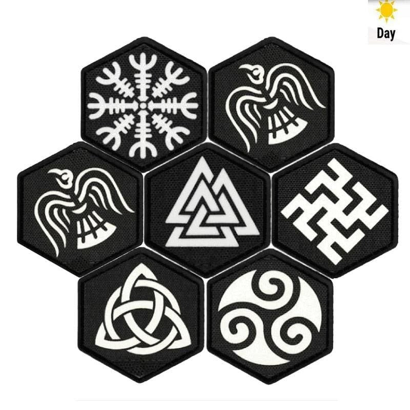 VIKING PATCH - NORSE SYMBOLS - 100005735