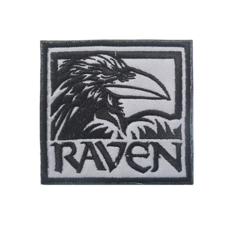 VIKING PATCH - ODIN RAVEN - black Size 9 x 8 cm - 100005735