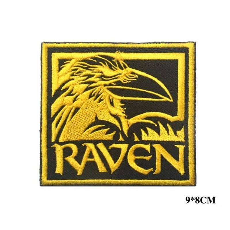 VIKING PATCH - ODIN RAVEN - Gold Size 9 x 8 cm - 100005735