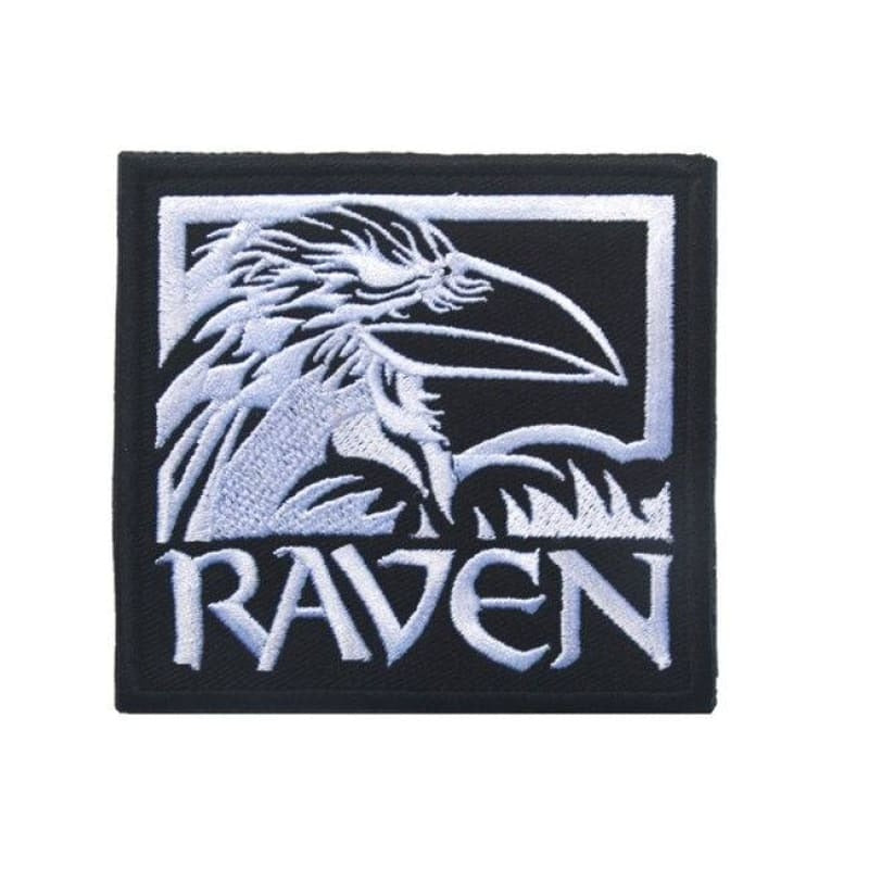 VIKING PATCH - ODIN RAVEN - White Size 9 x 8 cm - 100005735