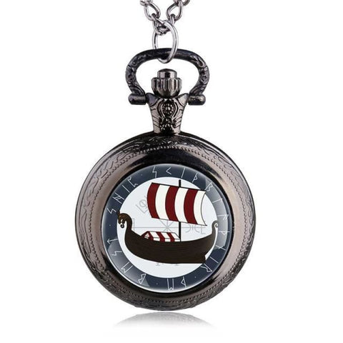 VIKING POCKET WATCH - Black - pocket watch