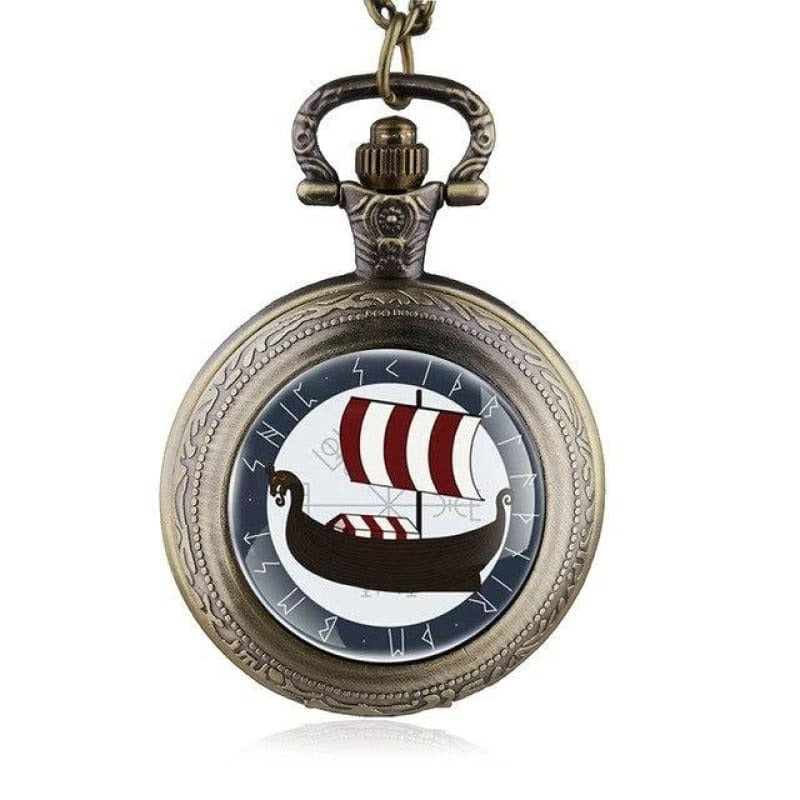 VIKING POCKET WATCH - Bronze - pocket watch