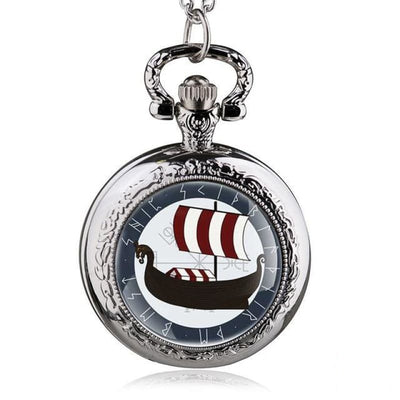 VIKING POCKET WATCH - Silver - pocket watch