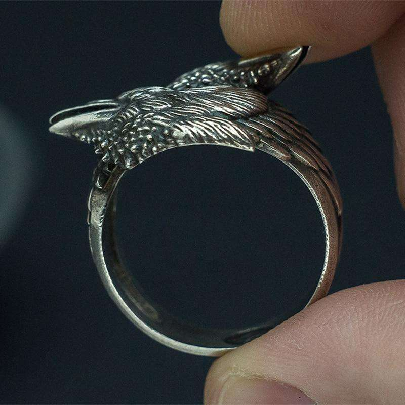 viking raven ring model