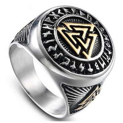 VIKING RING - RETRO - 8 / Gold and silver - 100007323