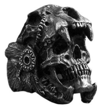 SKULL RING - WARRIOR