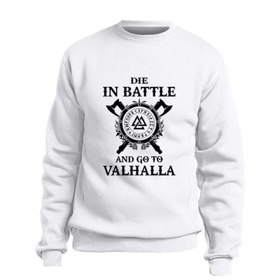 VIKING SWEATSHIRT- DIE IN BATTLE AND GO TO VALHALLA HIMINBJORG - 200000344