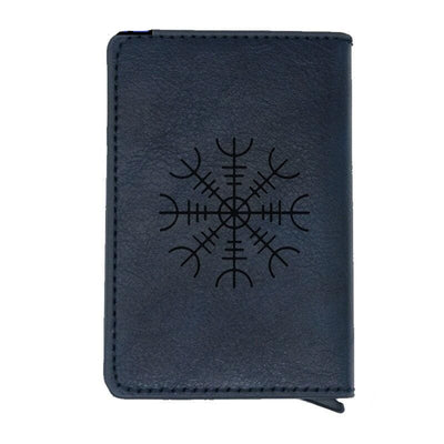 VIKING WALLET - VEGVISIR SYMBOL - Blue - 100001877