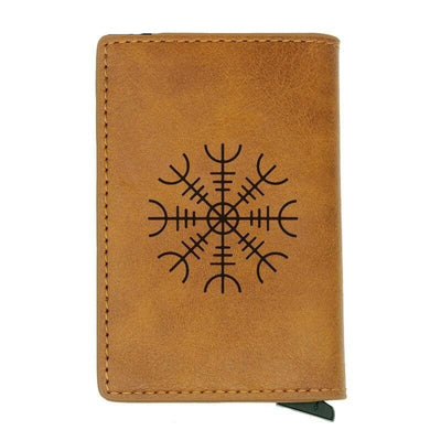 VIKING WALLET - VEGVISIR SYMBOL - Brown - 100001877