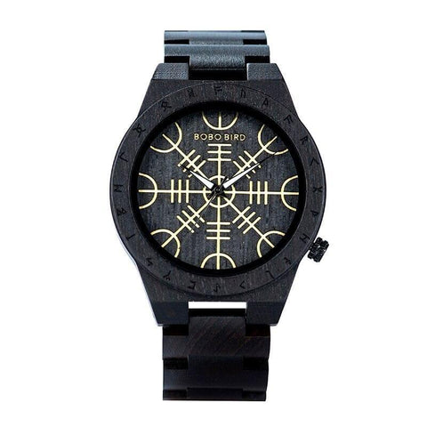Black-wooden-Viking-Watch