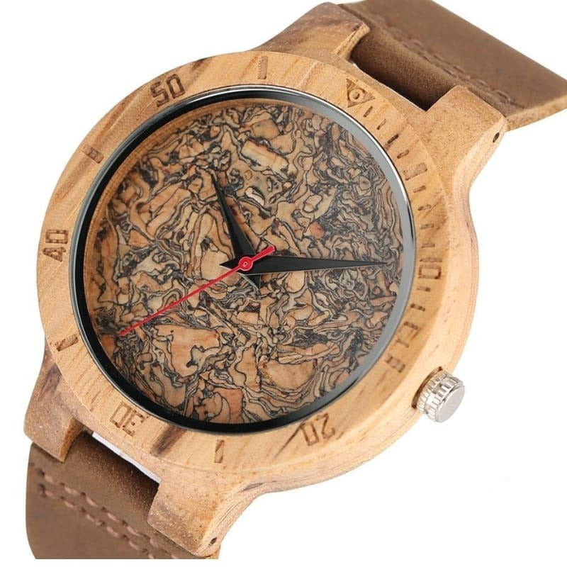 VIKING WATCH - COMPASS - Dial in cork with zebra effect - watch