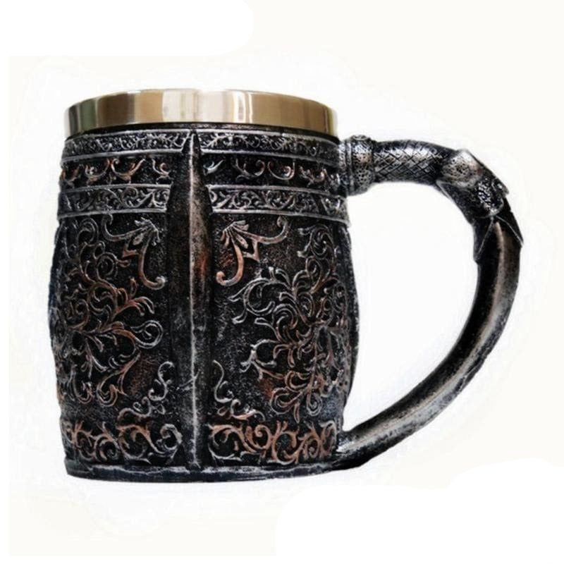 VIKINGS SKULL HEAD MUG - viking mug