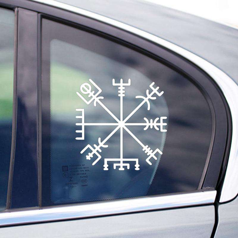 white viking rune stickers