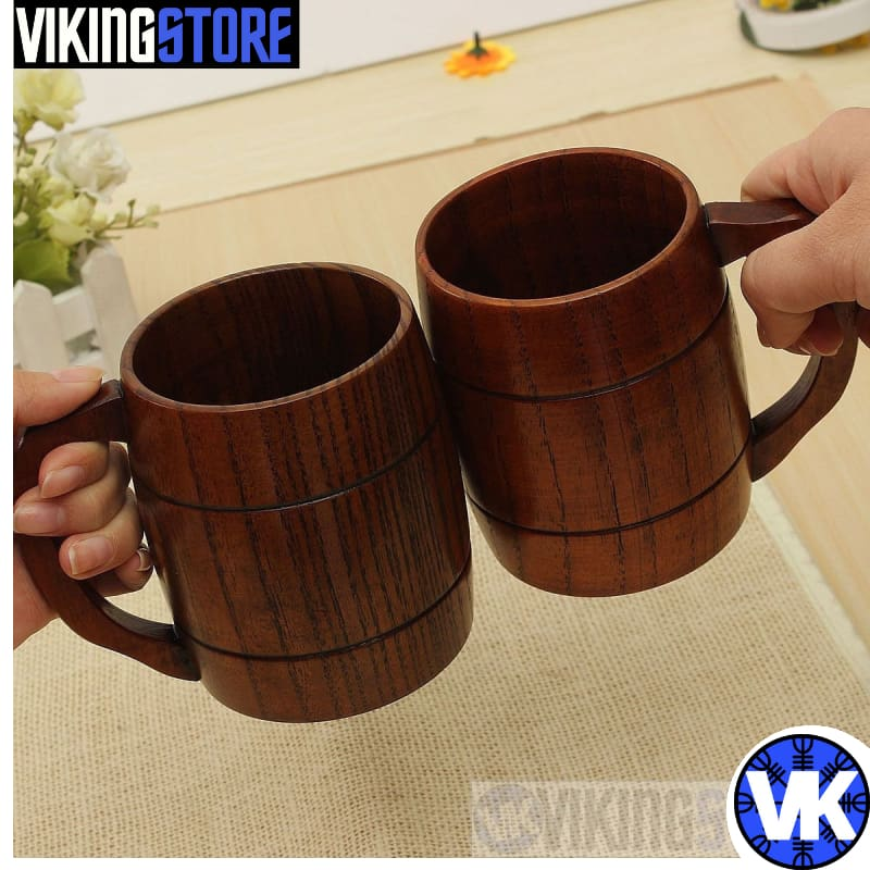 WOOD BEER MUG 400ML - beer mug