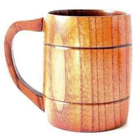 WOODEN BEER MUG - wood beer mug