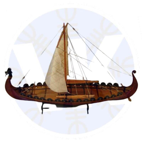 WOODEN SHIP MODEL KIT - DRAKKAR - WOODEN SHOP MODEL KIT (DRAKKAR)