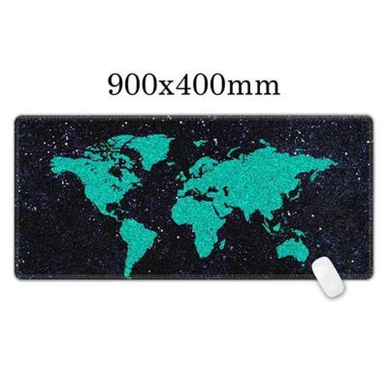 World Map mouse pad - Midgard - Midgard Blue - mouse pad