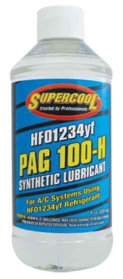 38589 (6 Pack) HFO-1234yf PAG 100 Compressor Oil 8oz. (237 ml) - Supercool Professional AC Products