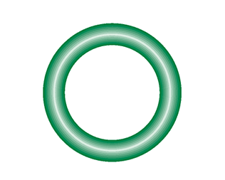 568-208-10 Green HNBR O-ring 10 pack - Supercool Professional AC Products