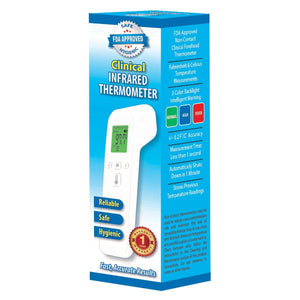 FDA Certified Clinical Digital Infrared No-Touch Human Thermometer