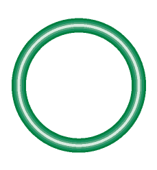 M2123-10 Green HNBR O-ring 10 pack - Supercool Professional AC Products