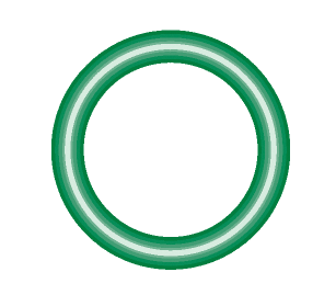 M2124-10 Green HNBR O-ring 10 pack - Supercool Professional AC Products