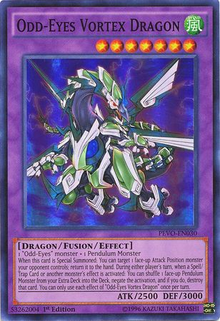 Odd-Eyes Vortex Dragon - PEVO-EN030 - Super Rare 1st Edition