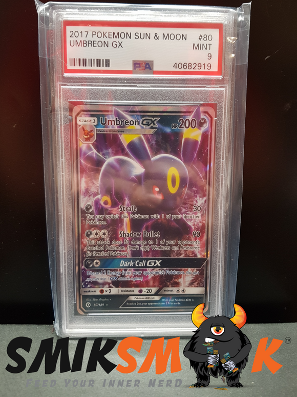 UMBREON GX Sun & Moon #80 PSA 9 MINT