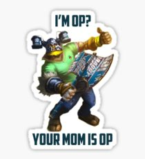 Olaf ''I'M OP? YOUR MOM IS OP'' Vinyl Sticker