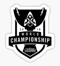 WORLD CHAMPIONSHIP 2015 LOGO Vinyl Sticker