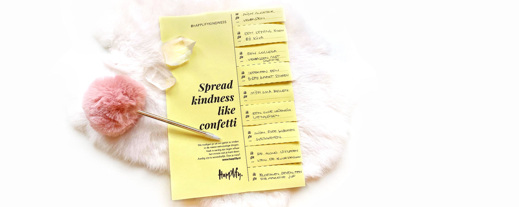 Spread kindness like confetti. Doe je mee?