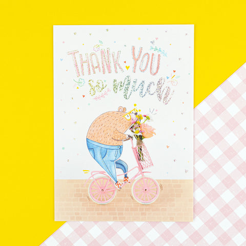 Postcard 'Thank You Beary Much'