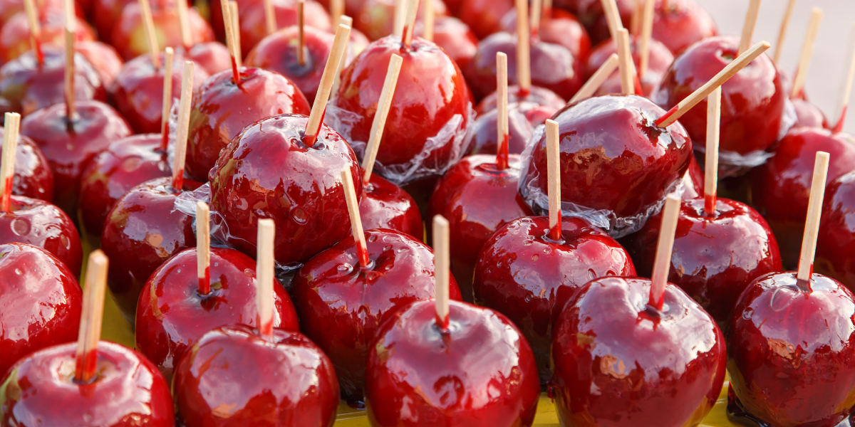 Candy appels rood