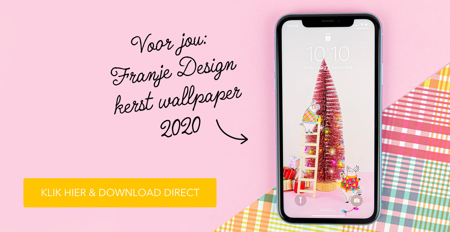 Franje Design kerst wallpaper smartphone 2020