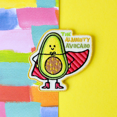 Embroidered patch 'The Almighty Avocado'