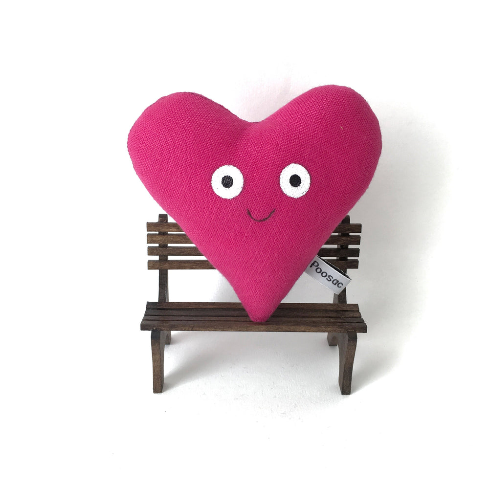 Poosac Love heart pillow handmade collectable