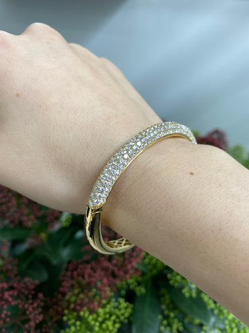 Big pave diamondbangle