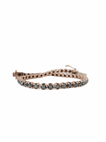 Black diamond tennisbracelet