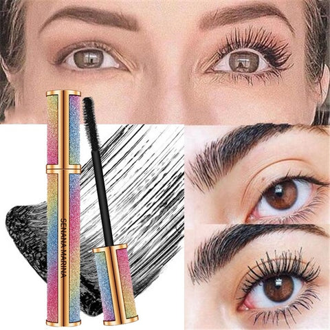 With just one application, the 4D Silk Fiber Eyelash Mascara gives an instant boost of volume and length to the eyelashes