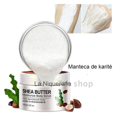 Bioacua karite oil body scrub