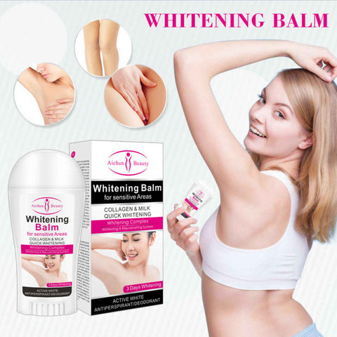 Aichun Beauty Whitening Balm For Sensitive Areas Collagen Milk Quick Skin System