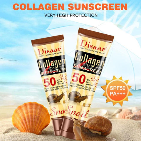 Whitening sunscreen cream with collagen