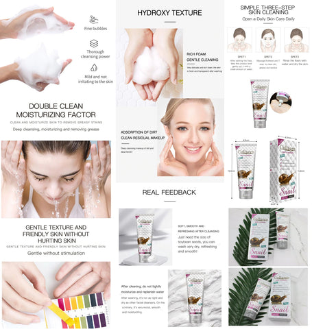 Snail Slime Facial Cleansing Foam with Collagen