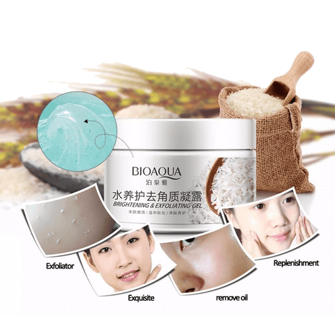 biacua facial rice scrub gel