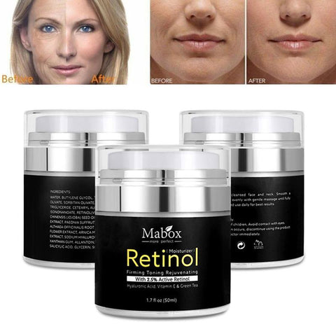 Moisturizing cream for the face and eye area, with retinol, hyaluronic acid, vitamin E and green tea.