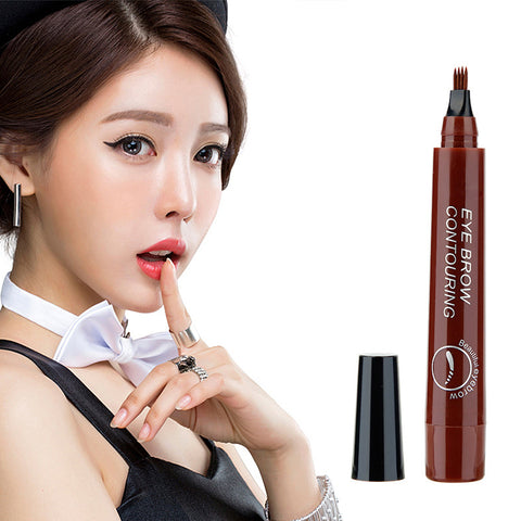 4-pointed eyebrow pencil