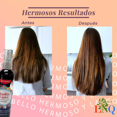 Rapunzel hair ampoule accelerated growth 100% natural